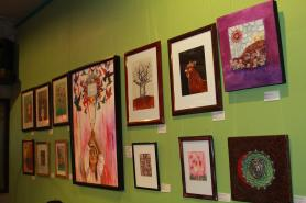 Local Art Exhibit (photo by Cafe Lucia)